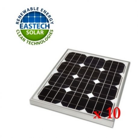 845 Pack 10 Placas Solares Fotovoltaicas Eastech Solar 10wp 12v on tts 845